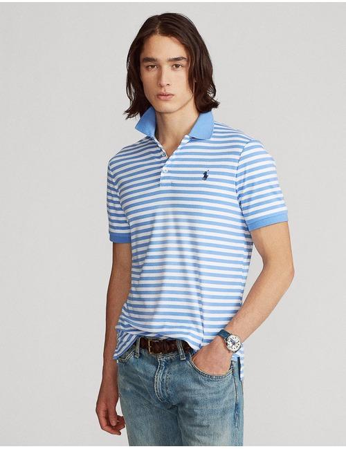 Ralph Lauren slim fit polo blauw
