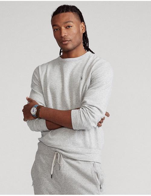 Standard fit Katoenmix Sweater Grijs