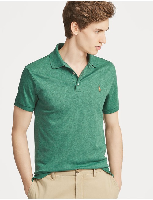 Slim Fit Soft Cotton Polo Groen
