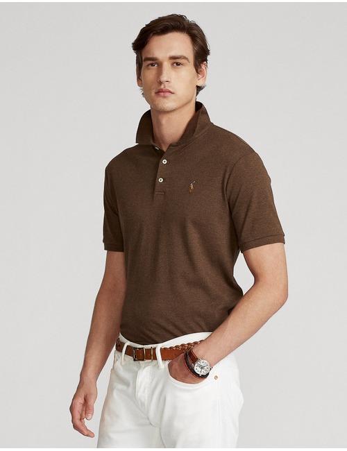 Slim Fit Soft Cotton Polo Bruin