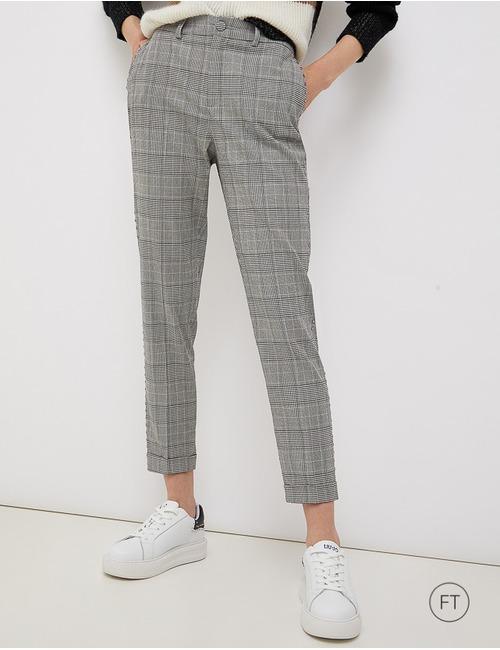 Liu Jo geklede broek grijs