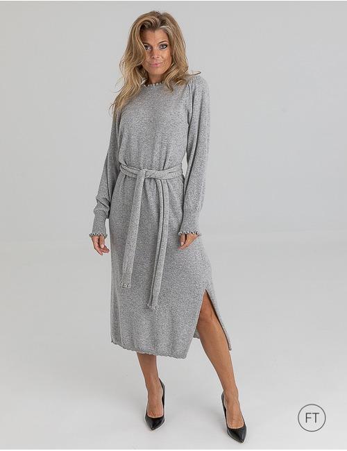 Due Amanti lang kleed grijs