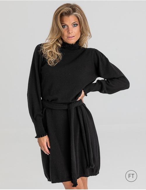 Due Amanti kort kleed zwart