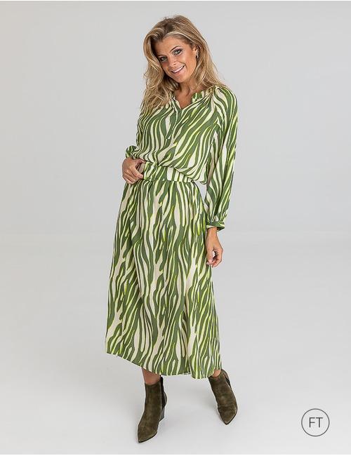 Due Amanti lang kleed groen