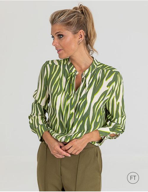 Due Amanti lange mouw bloes groen