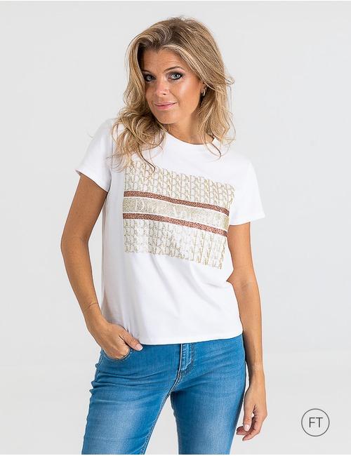 Due Amanti t-shirt korte mouw goud