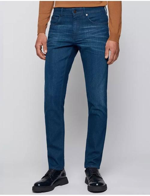 Slim fit jeans extra stretch donkerblauw