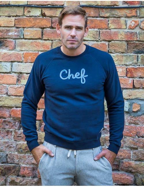 Sweater Chef blauw