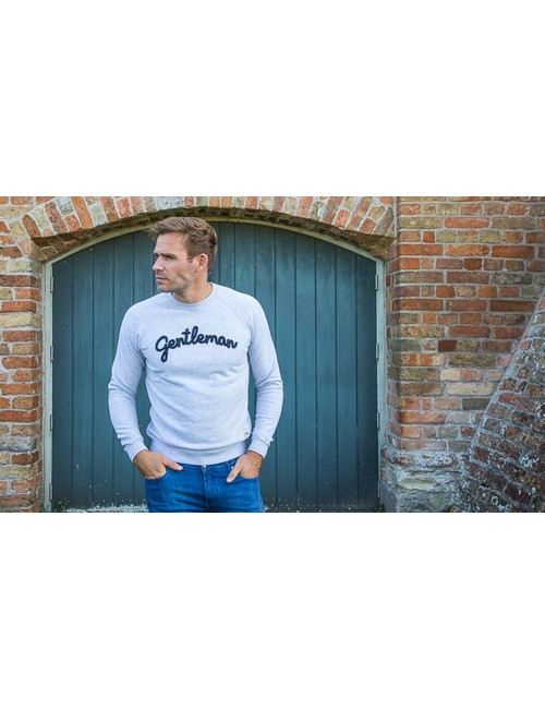 French Disorder sweater grijs