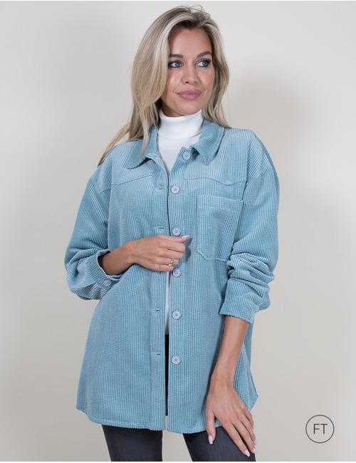 La Camicia lange mouw bloes blauw