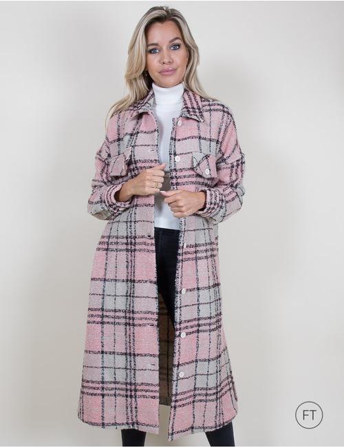 La Camicia lange mantel rose