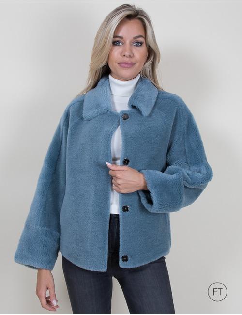 Oakwood korte mantel blauw