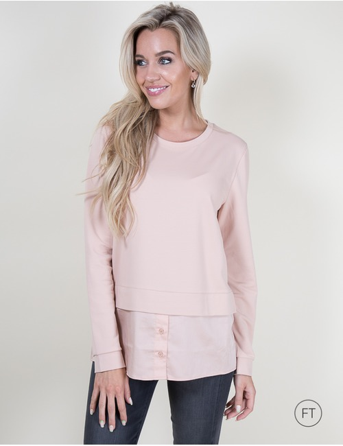 Marccain lange mouw sweater rose