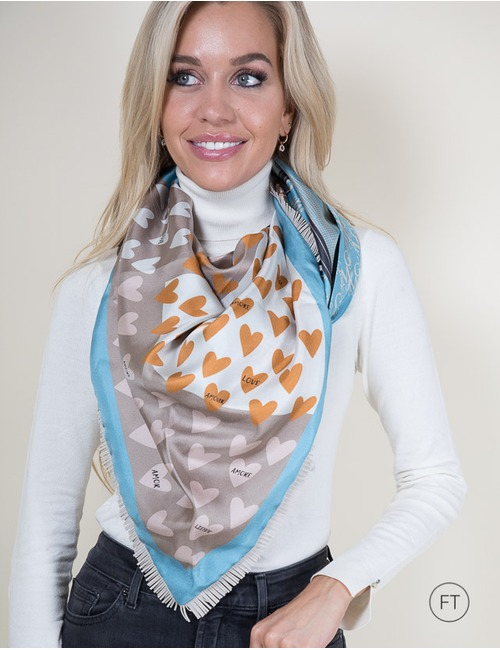 Mucho Gusto sjaals blauw