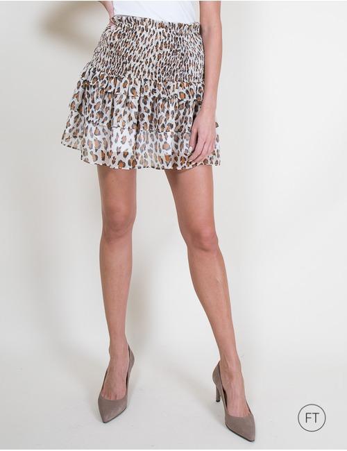 Twinset korte rok leopard