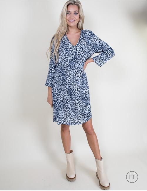 Heartmind kort kleed blauw