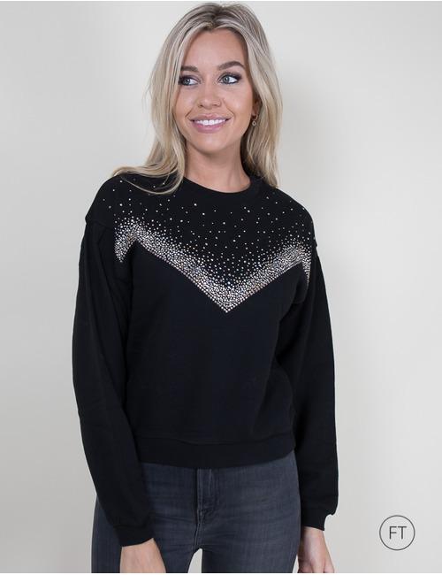 Kocca lange mouw sweater zwart