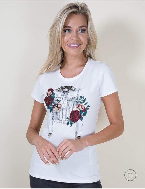 Liu Jo t-shirt korte mouw wit