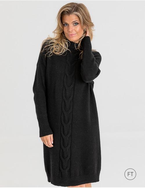 Due Amanti midi kleed zwart