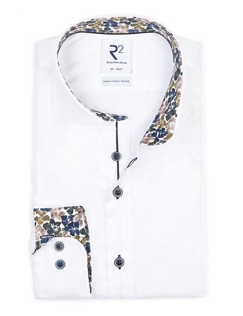 R2 modern fit hemd wit