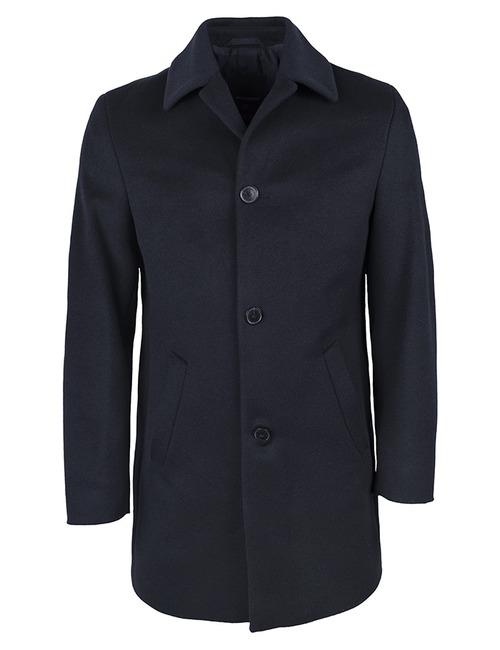 Wollen mantel Donkerblauw