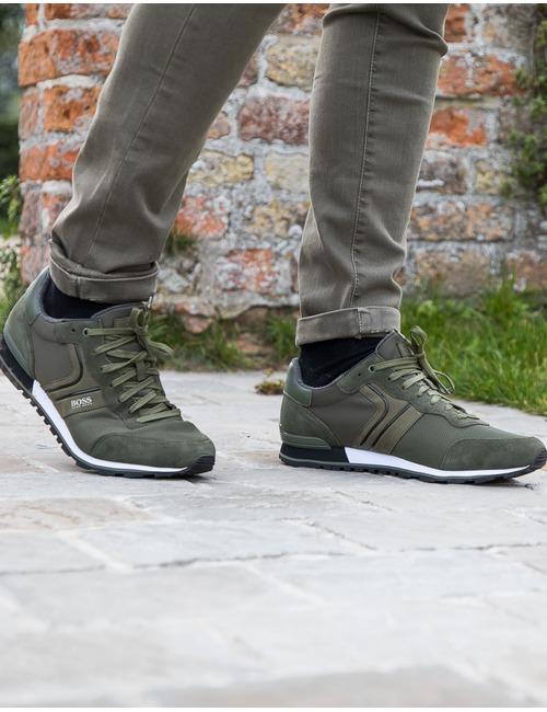Boss sneaker groen