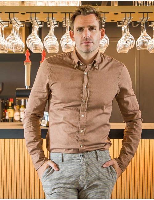 Stenstroms slim fit hemd roest