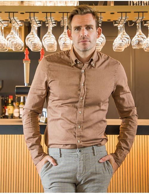 Stenstroms custom fit hemd bruin
