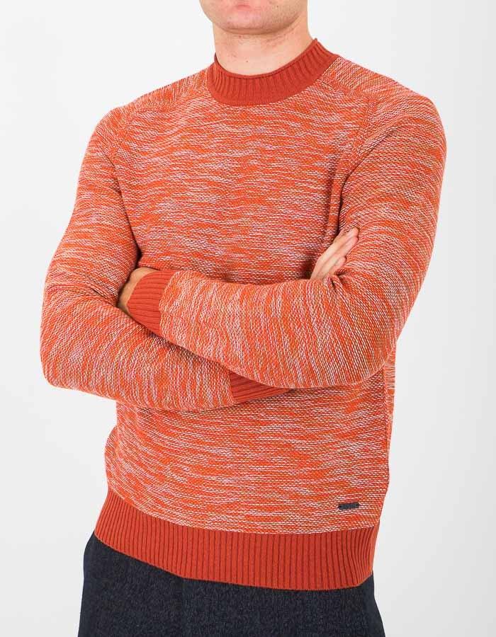 Standard fit pull met ronde hals oranje