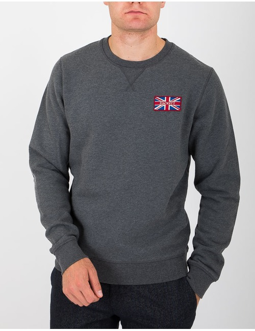 Standard fit sweater grijs