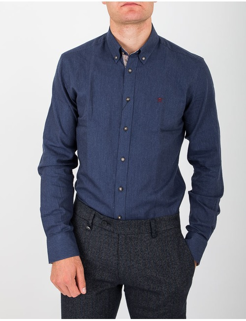 Slim fit hemd jeansblauw