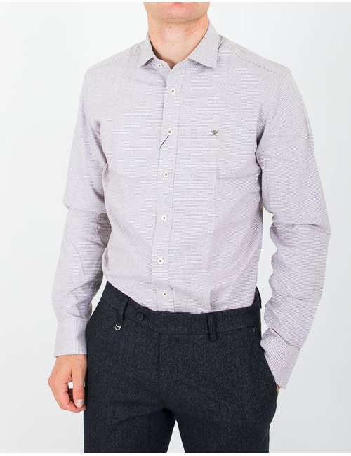 Slim fit hemd Beige