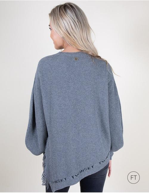 Twinset lange mouw pull grijs