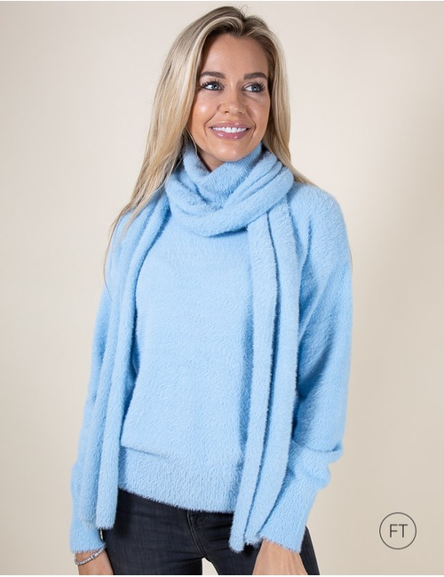 Senso sjaals blauw