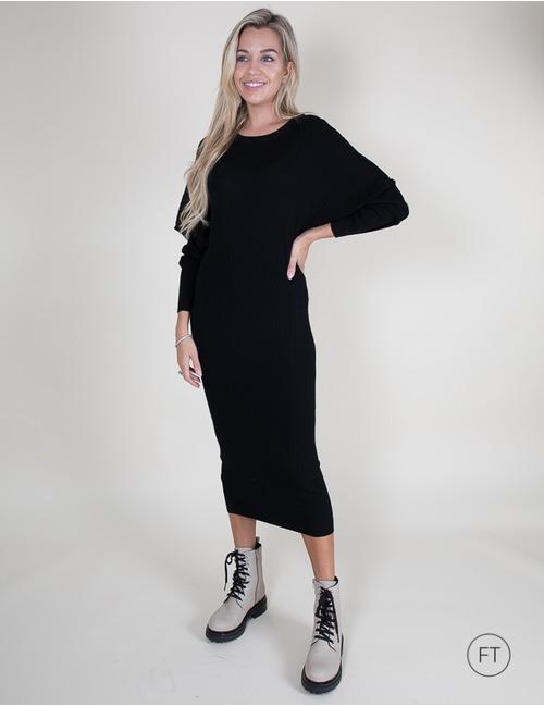 Twinset midi kleed zwart