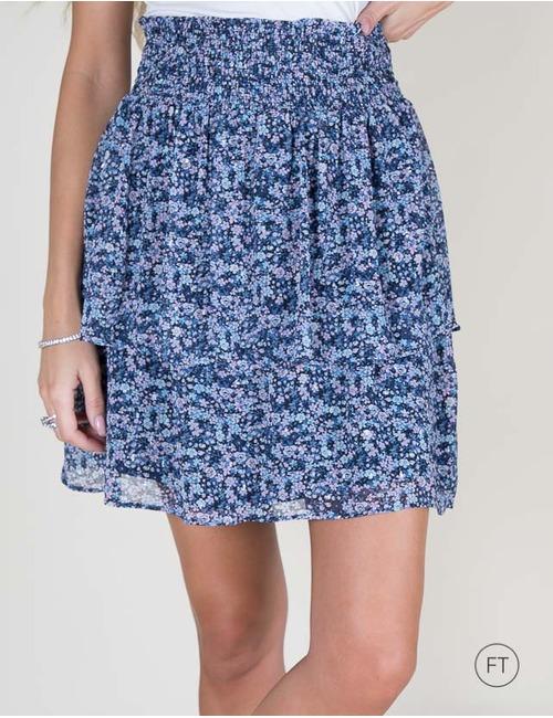 Senso korte rok blauw