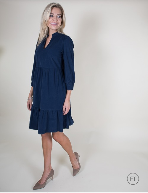 Senso kort kleed blauw