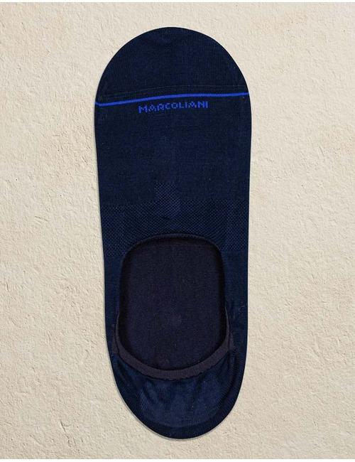 Pima Katoen Invisible Touch Kousen Blauw