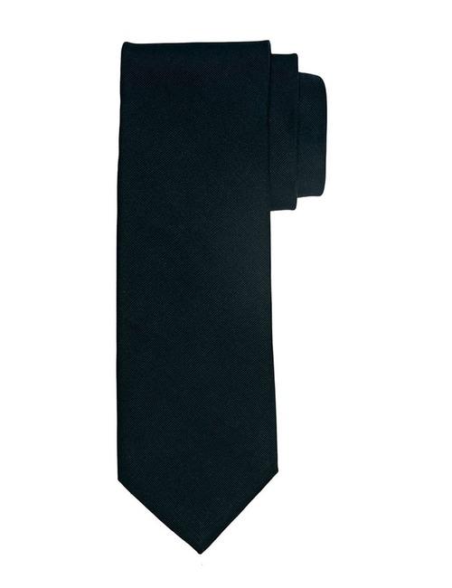 Ribs Silk Tie Zwart