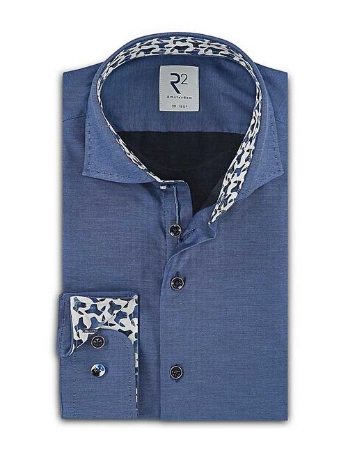 Modern Fit hemd Blauw