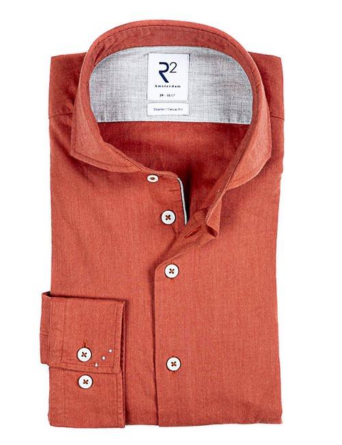 Modern fit hemd oranje