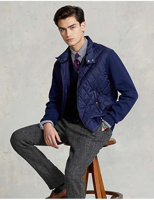 Standard Fit Quilted Hybrid Jacket