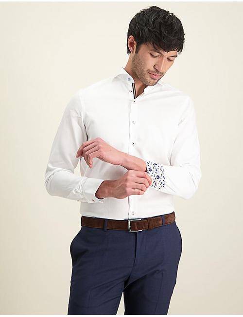Modern Fit hemd wit