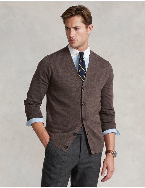 Slim fit Washable Wool Cardigan