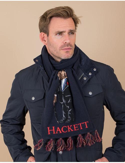 Hackett sjaal blauw