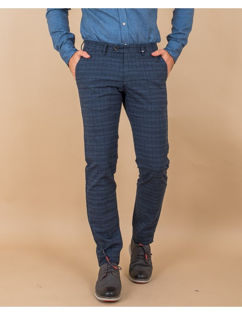 Zilton slim fit broek blauw