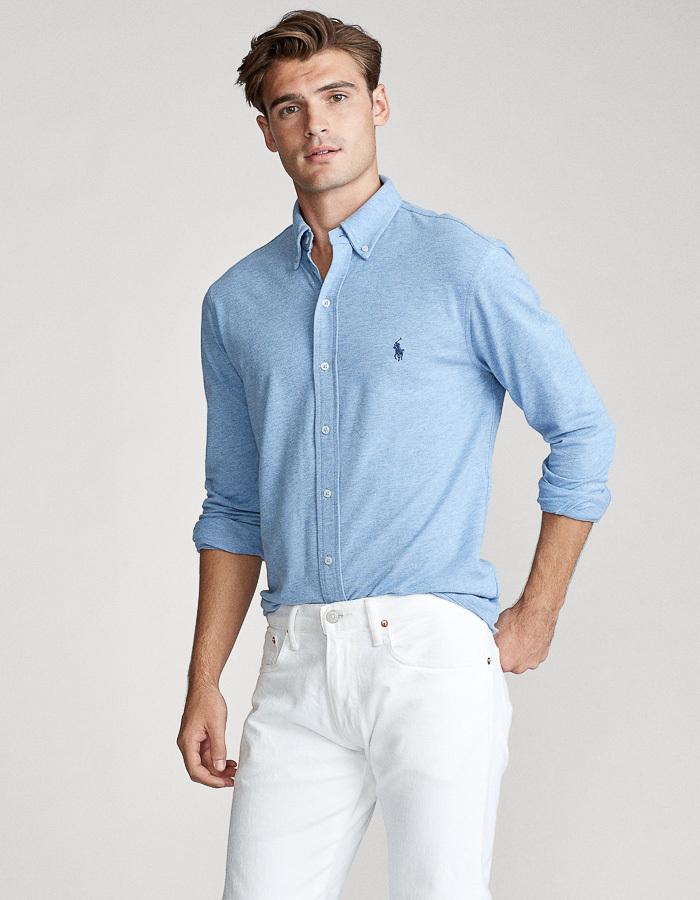 Featherweight Mesh Hemd Standard fit Blauw