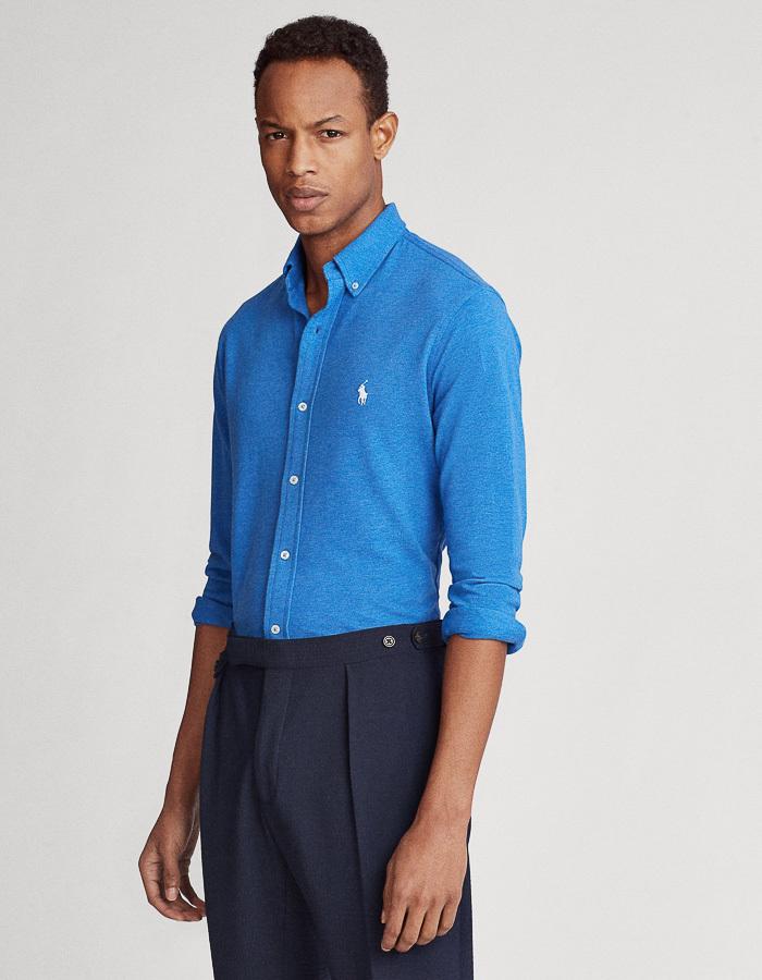 Ralph Lauren custom fit blauw